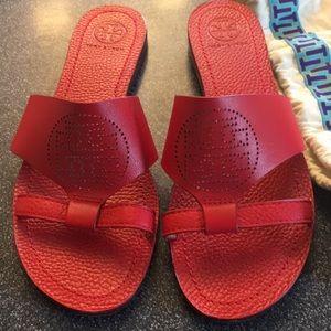 Tory Burch true red slides